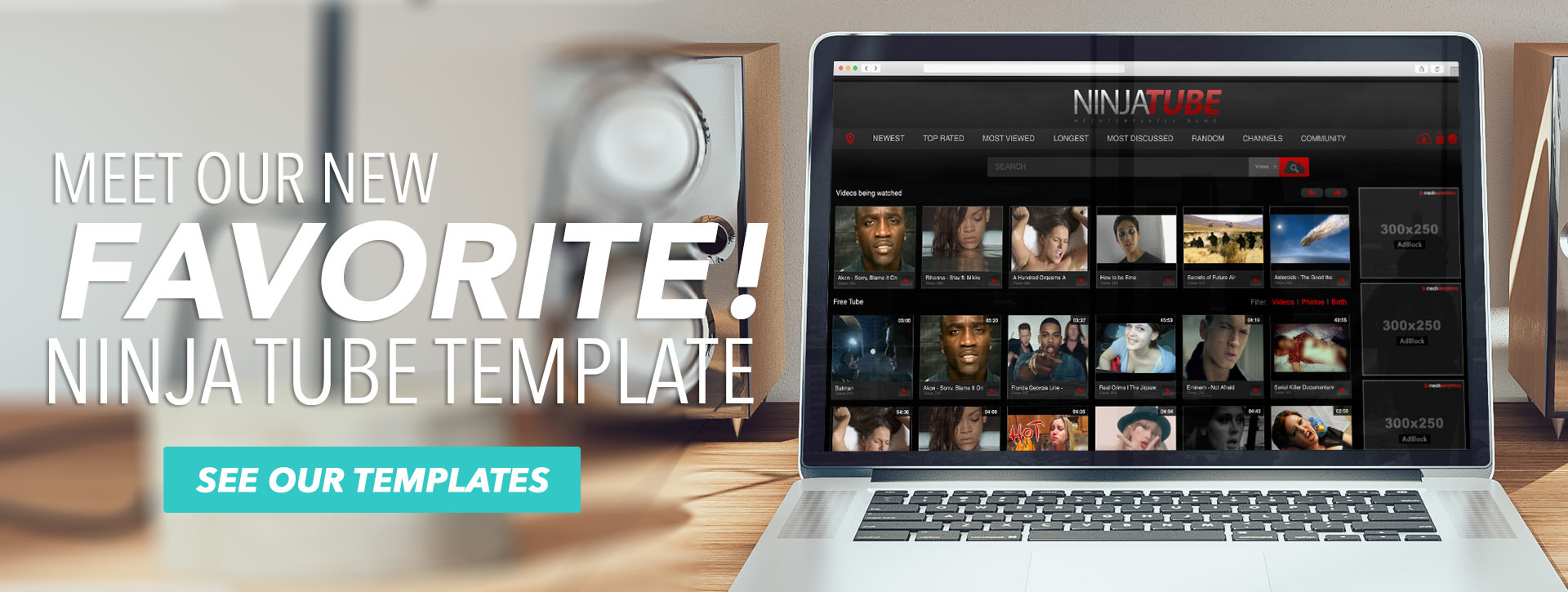 Meet Our New FAVORITE! NinjaTube Template